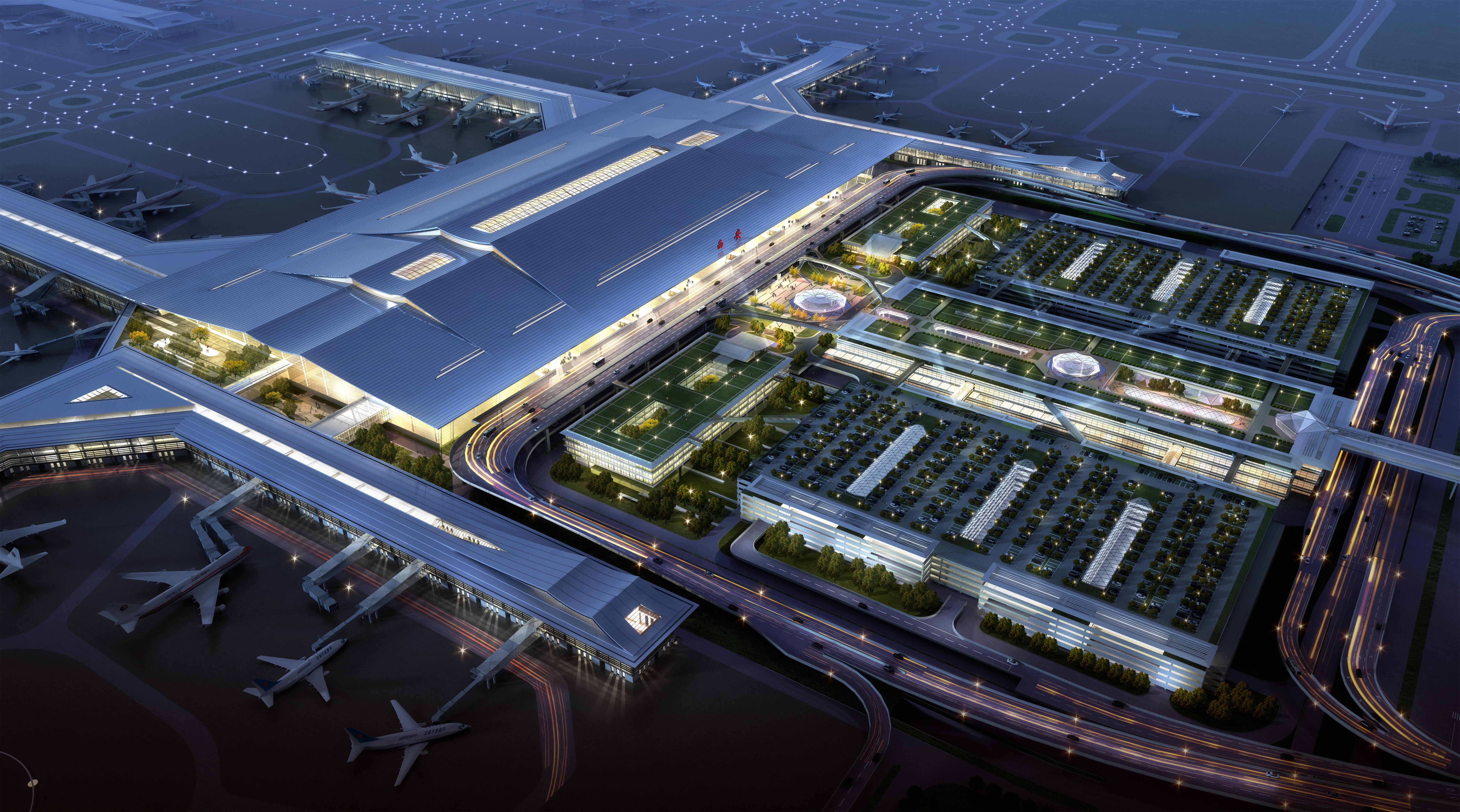 西安咸阳机场三期效果图