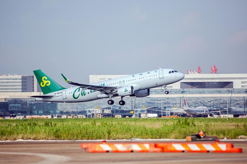 春秋航空1月客运量181.6万人次 客座率同比减少7.85%