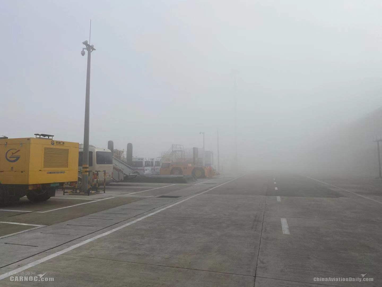 徐州机场迎大雾天气能见度不足200米 11点后航班可正常起降