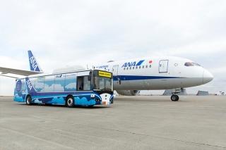 全日空在東京羽田機場啟動自動駕駛純電動大巴實地測試