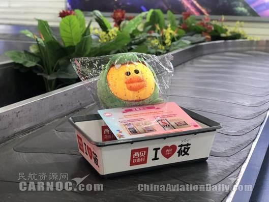 """三亚机场推出""""小黄鸭""""行李辨识牌"""