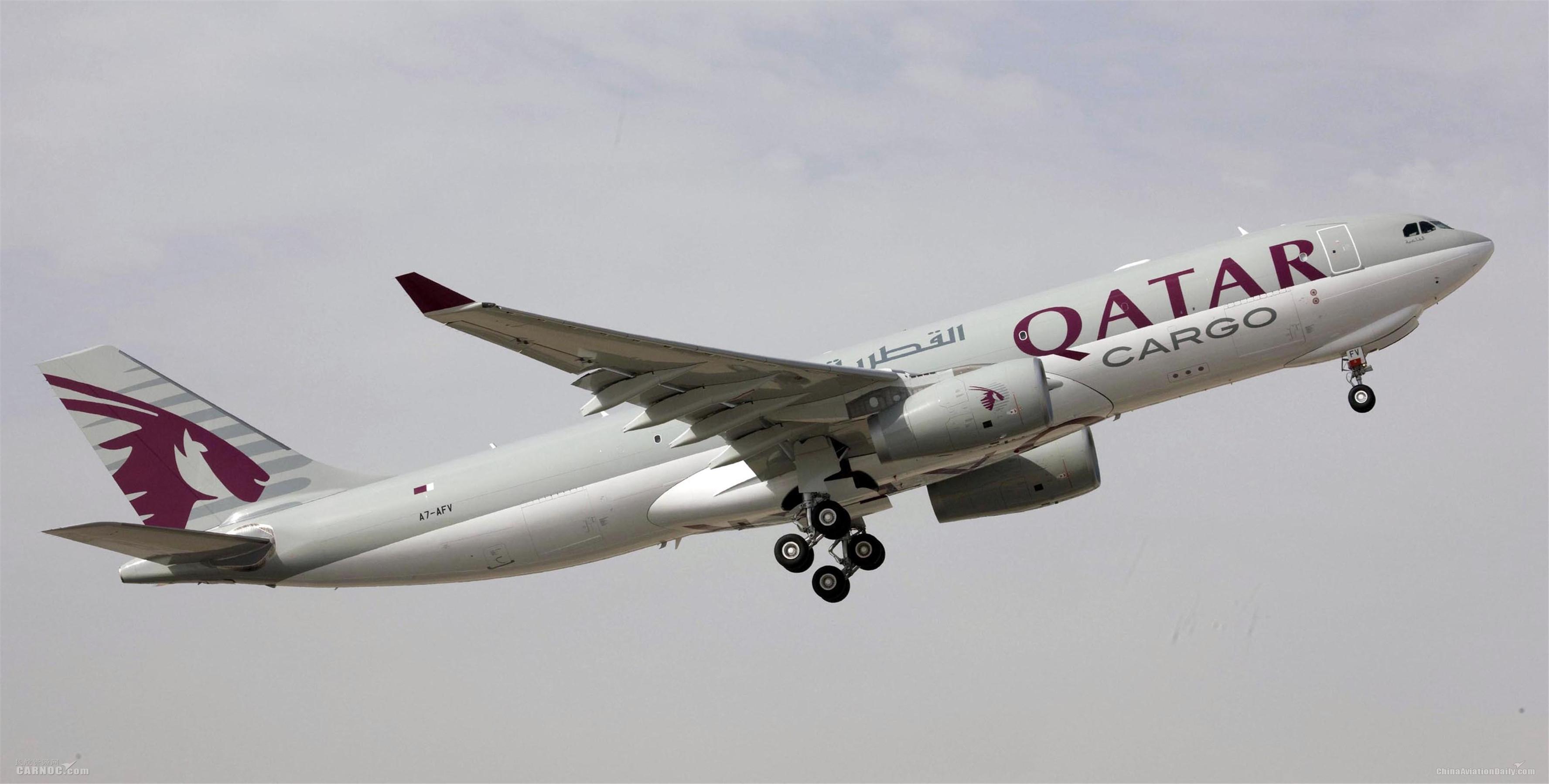 卡航空客A330全貨機承運10萬支應急口罩回中國