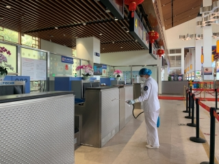 博鰲機場積極行動 堅決打贏疫情防控阻擊戰