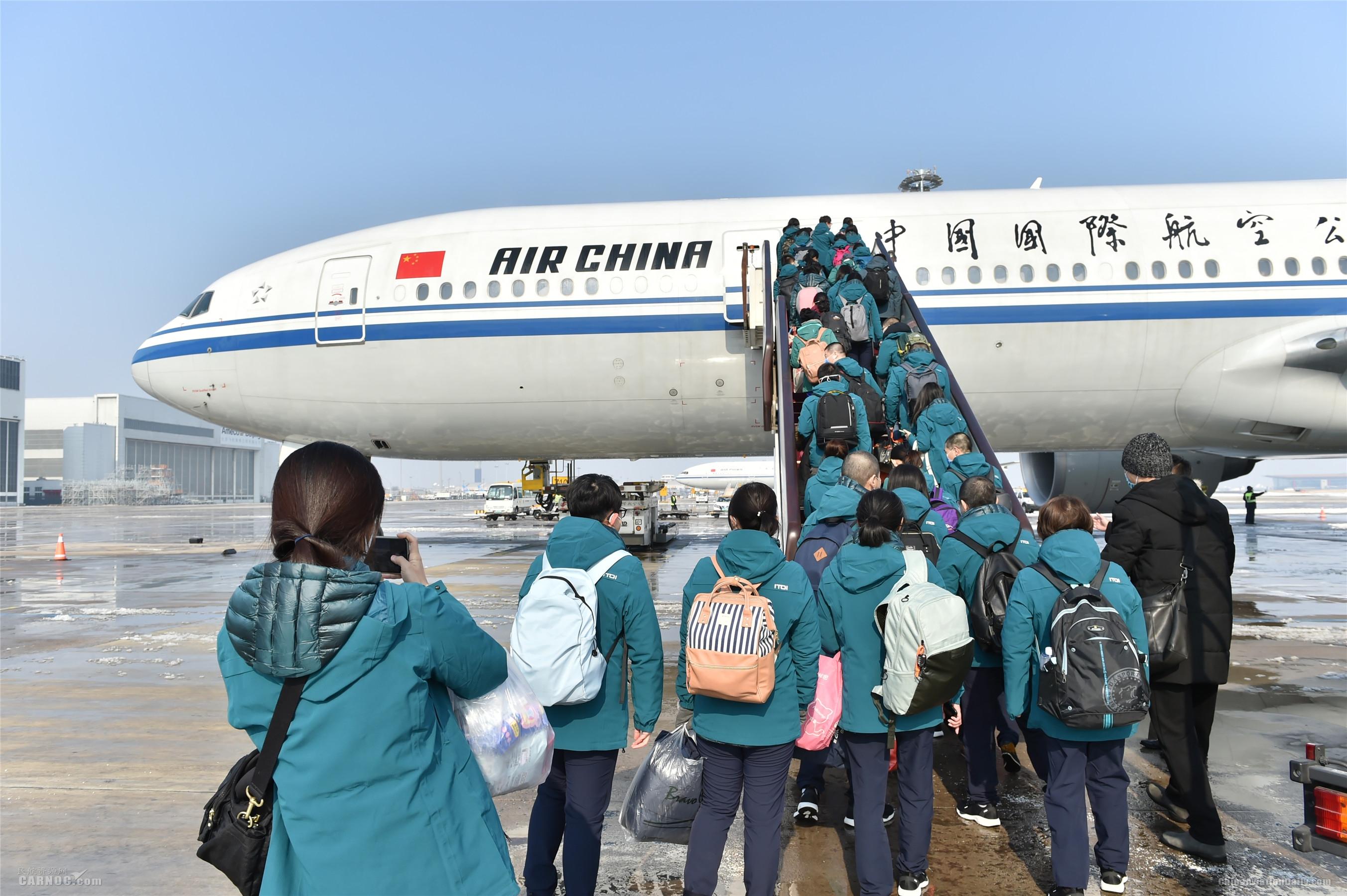 国航两架包机再送668名医疗人员驰援武汉