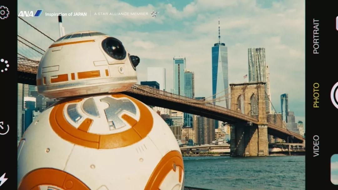全日空最新宣传片:无论世界多么广阔,BB-8和ANA与你同在 摄影:截图