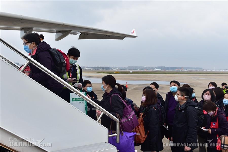 第22架!东航包机运送138名上海新一批医护人员驰援武汉