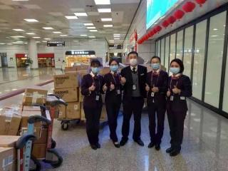 河南省機場集團半個多月運送防控物資8萬多件