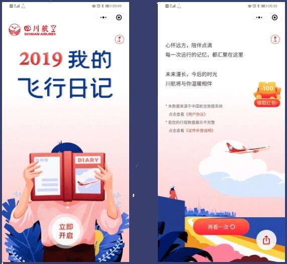 四川航空2019飞行账单