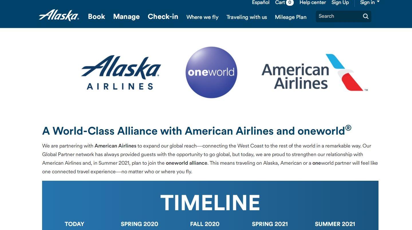 阿拉斯加航空2021年夏天加入寰宇一家