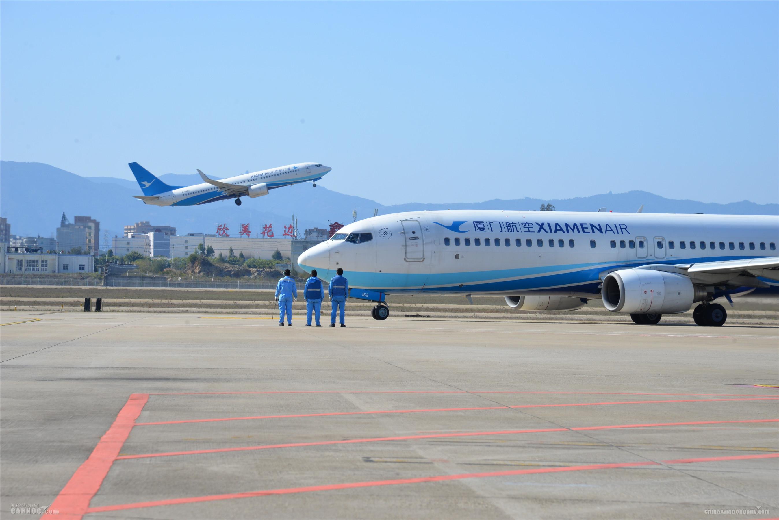 厦航第25架包机抵鄂 今运送107人对口支援宜昌
