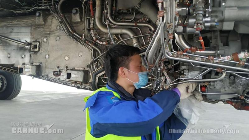西藏航空西安基地首次完成A330发动机FMU更换工作