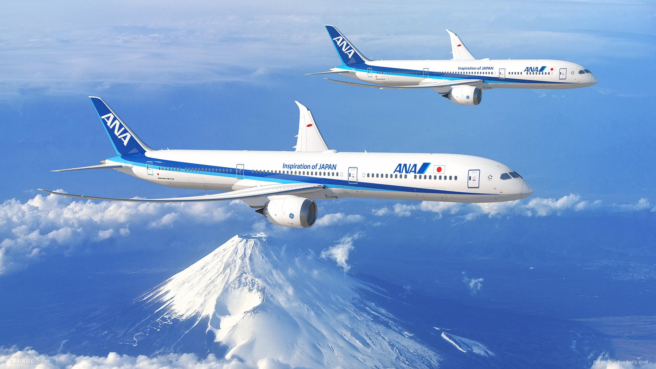 全日空航空承诺订购20架787,总数将达百架