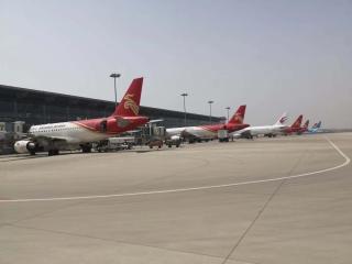 山西省首架復工返崗崗包機在運城關公機場起飛