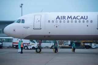 特区政府派包机接滞鄂澳门居民,澳门国际机场做好保障工作。澳门机场供图