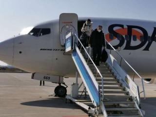 伊寧機場圓滿完成山東航進疆復工包機任務