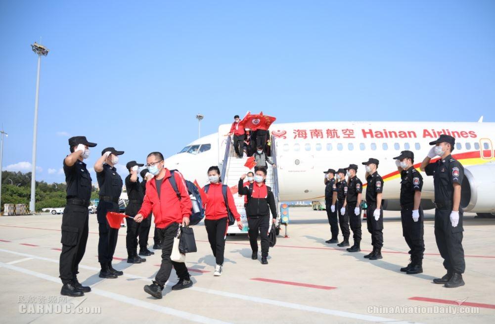 海南省援鄂医疗队凯旋  三亚机场喜迎英雄回家