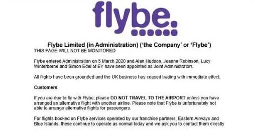 疫情中倒下的第一家航司:Flybe破产原因初探