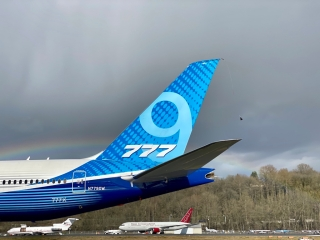 波音777X进行飞行测试暂停前最后一次试飞