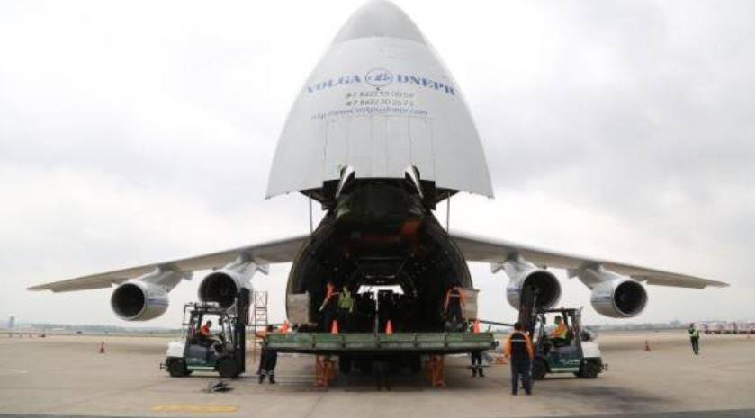 超级巨无霸AN-124来广州了!一次运384万个口罩飞往塞尔维亚