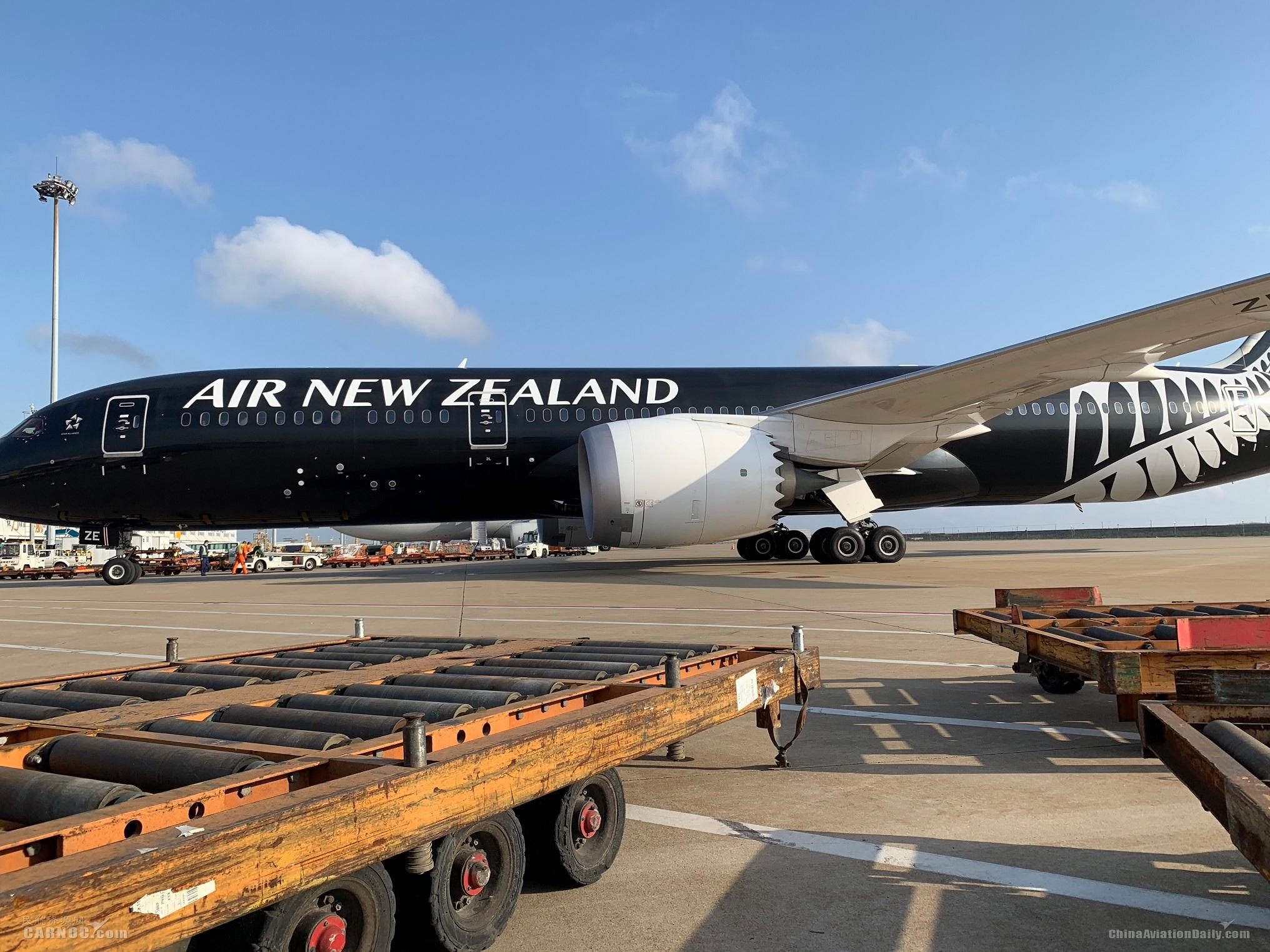 """新西兰航空复航中国 787客机开""""客转货""""模式"""