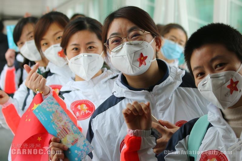 武汉天河机场高效保障7000余名援鄂医疗队员返程