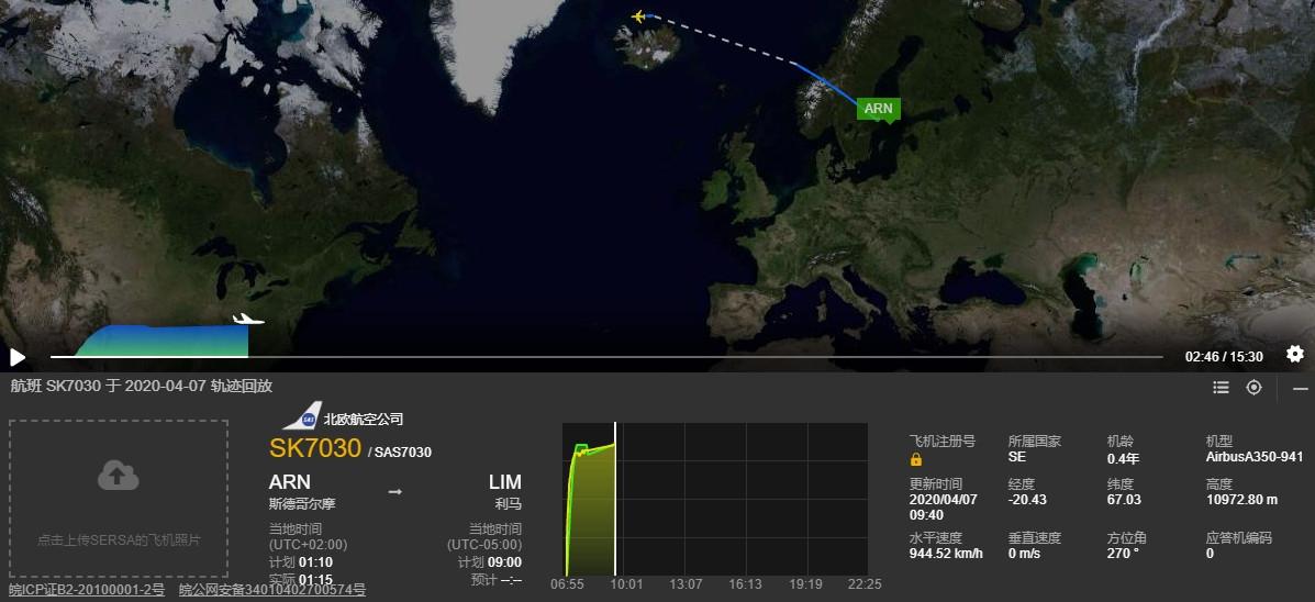北欧航空用A350从秘鲁撤侨,成其史上最长航线