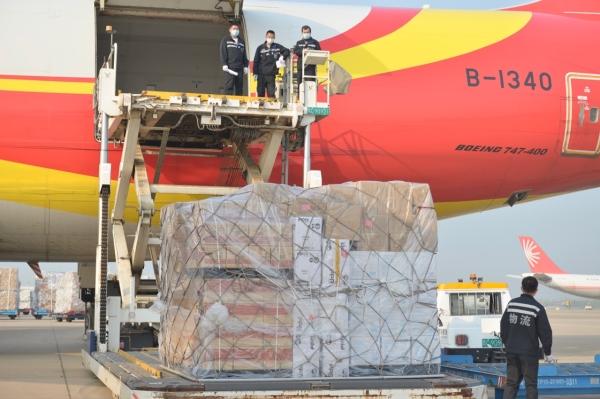 金鹏航空波音747货机运载物资从武汉起飞 驰援悉尼