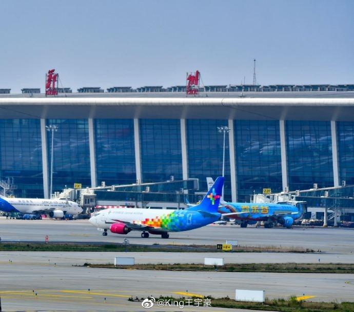 中州航空首架737飛抵鄭州新鄭國際機場