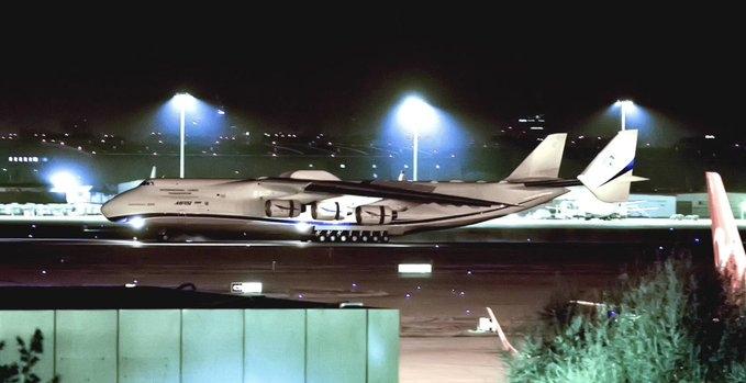 图片 视频:世界最大飞机AN-225降落天津金沙app下载 将为波兰运送400吨物资