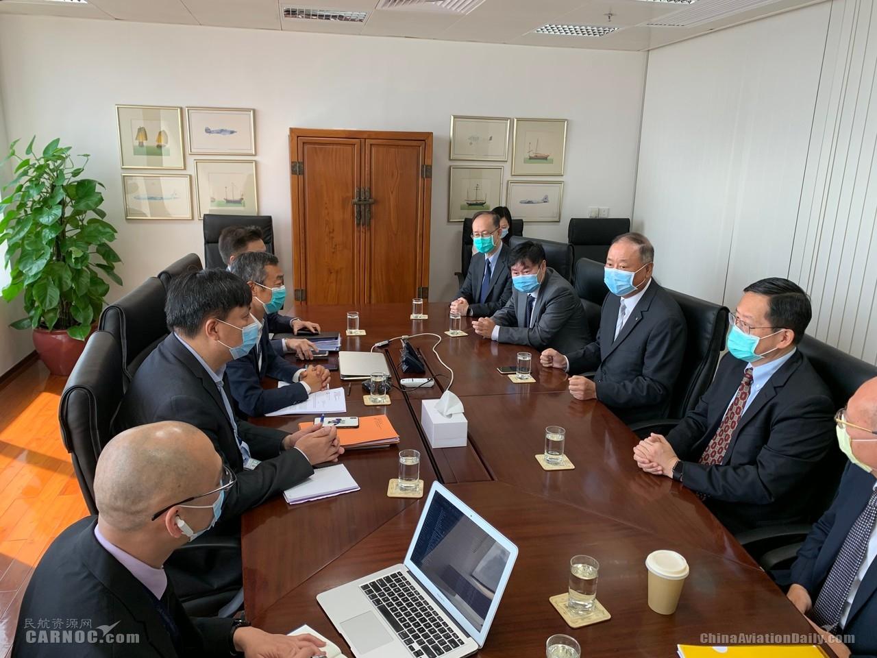 澳门机场执行委员会成员拜访澳门民航局 加速民航业发展助推旅游