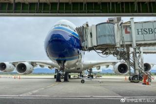 图集|南航A380首次亮相温哥华机场