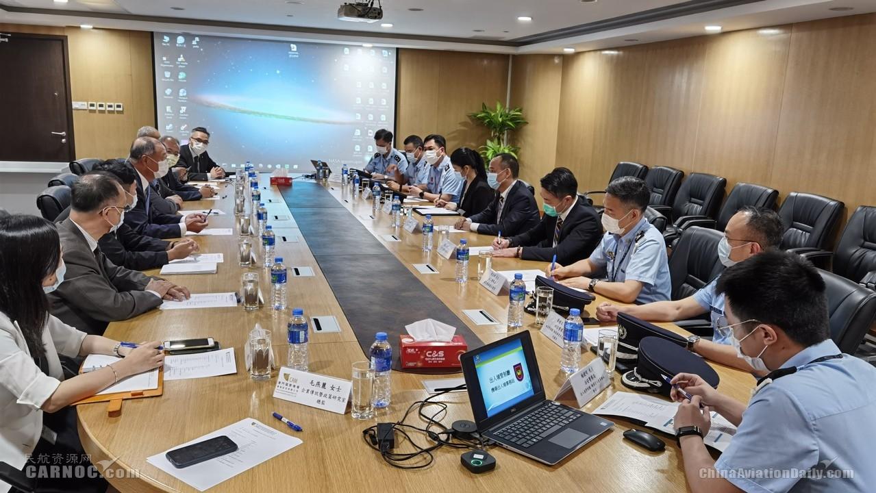 澳门机场执行委员会成员与治安警察局局长会面