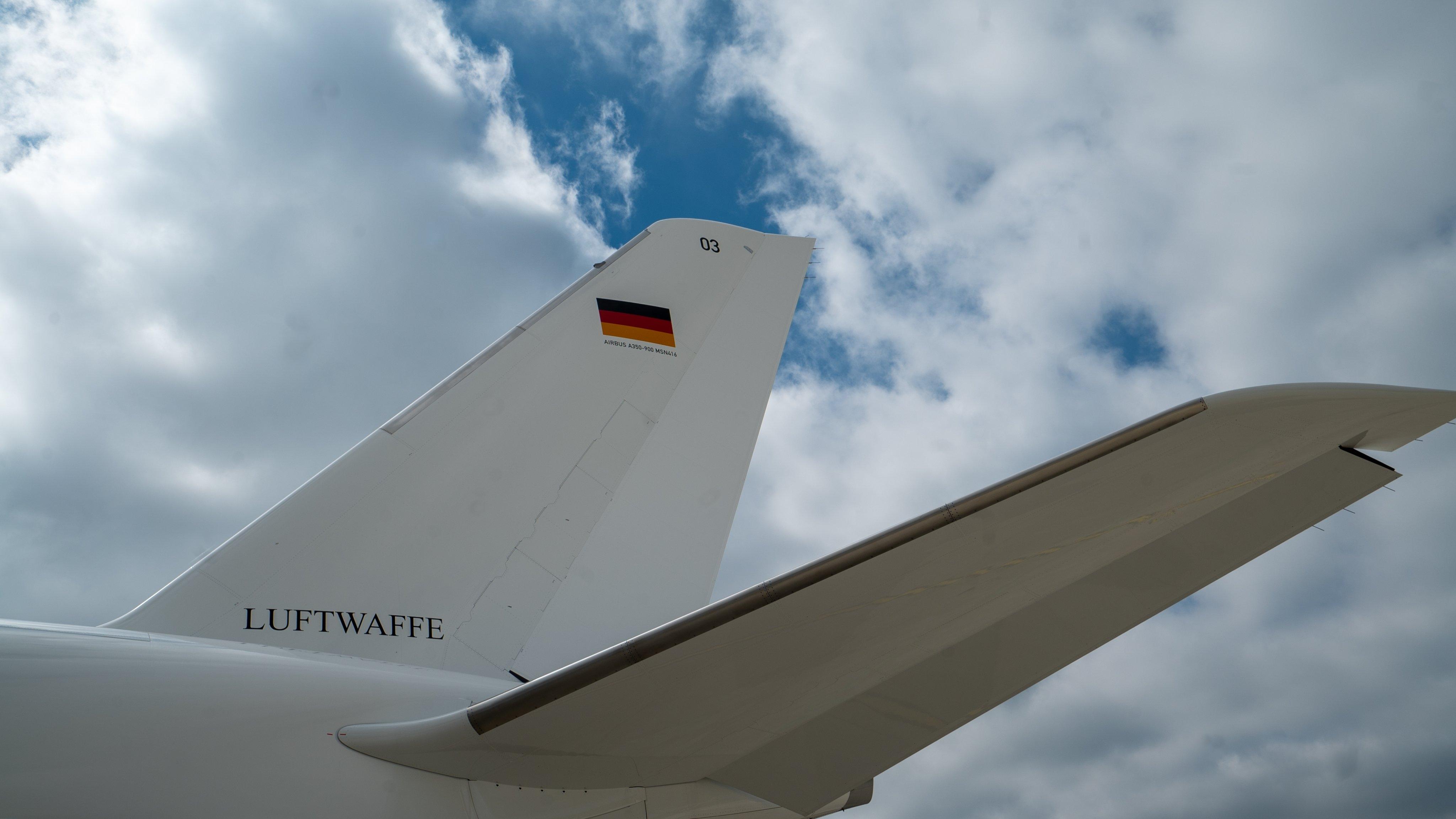 德国政府首架A350政府专机