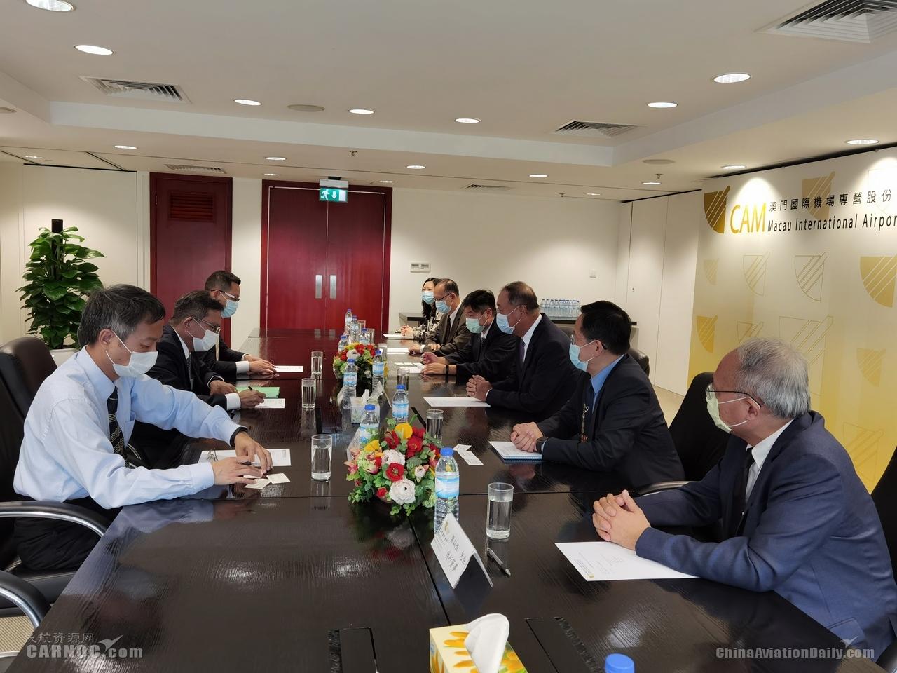 澳门机场执行委员会成员与长荣航空澳门分公司总主任会面