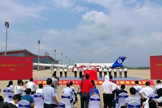 """江西航空ARJ21""""井岡山號""""成功首航"""