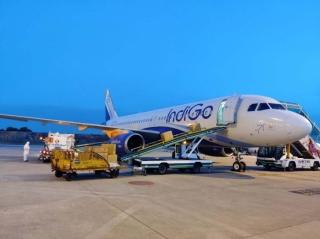 靛藍航空客改貨定期航班首航中國圓滿成功