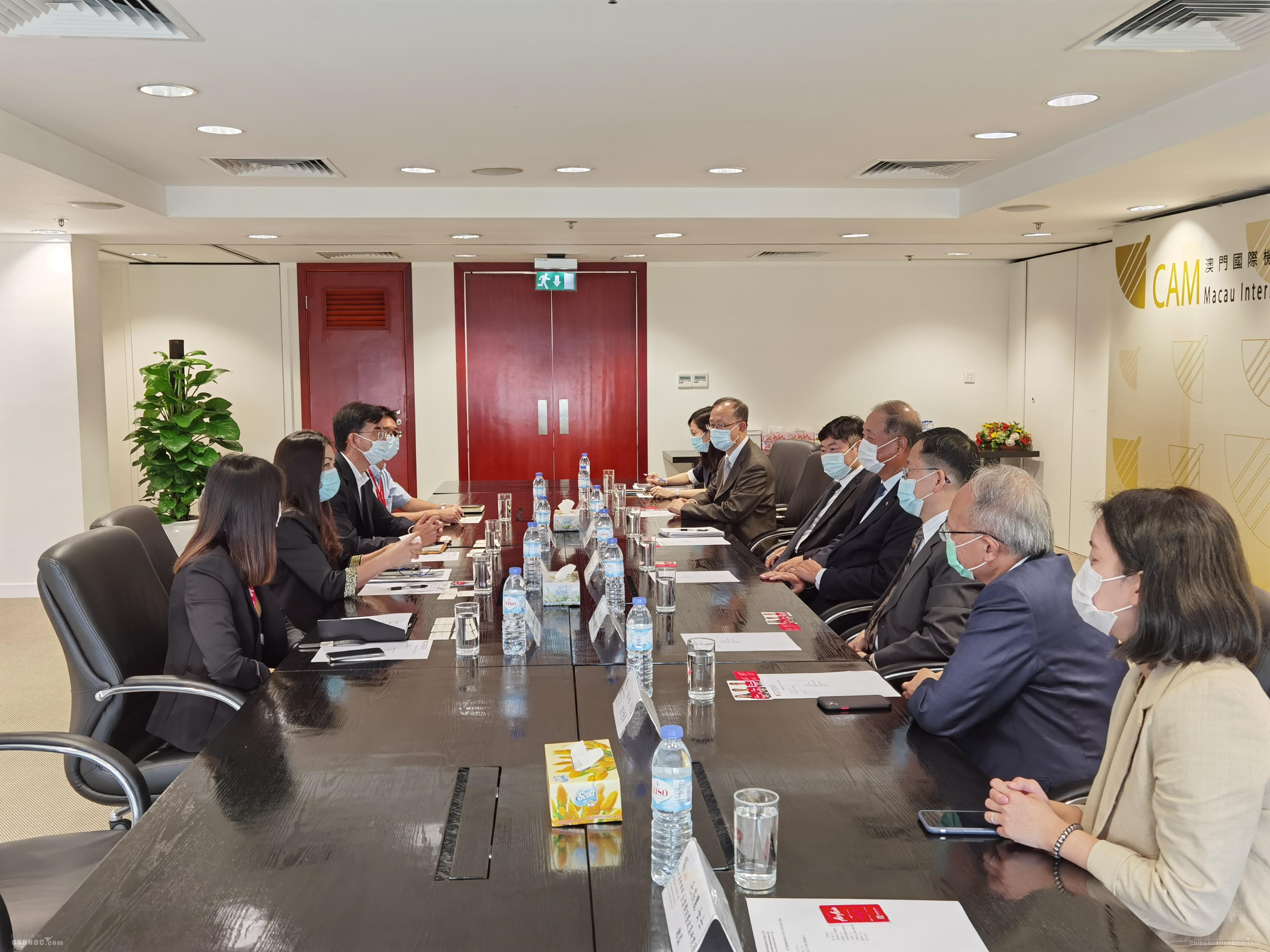 澳门机场执行委员会成员与亚航港澳地区行政总裁一行会面