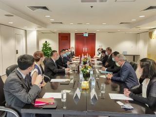 澳門機場執行委員會成員與澳門航空總經理一行會面