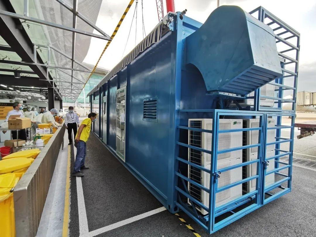 """全国首创的""""移动式一体化生物安全方舱""""助力白云机场织密防控网"""