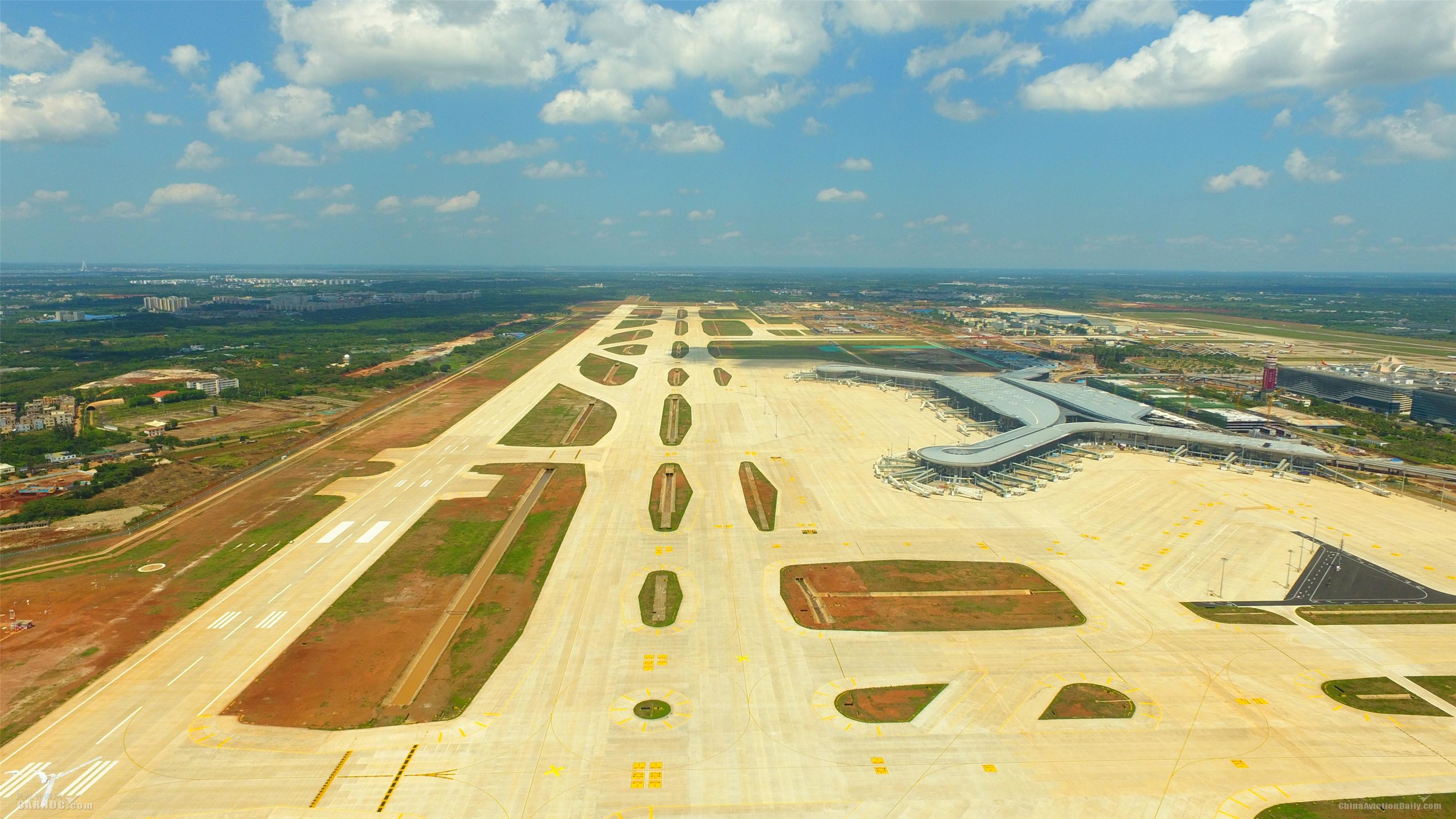海口美兰国际机场二期扩建项目将于6月1日开始校飞