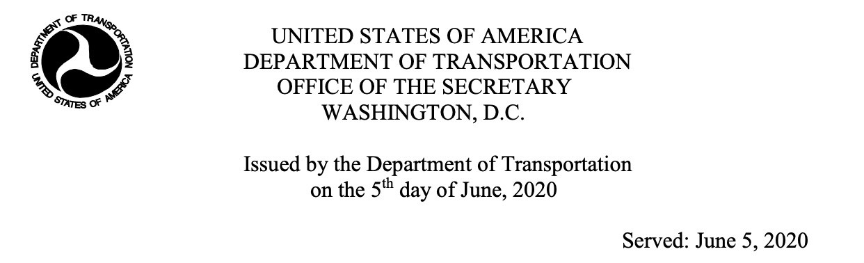 美国交通部调整禁令 只允许中国航司每周2班中美客运航班!