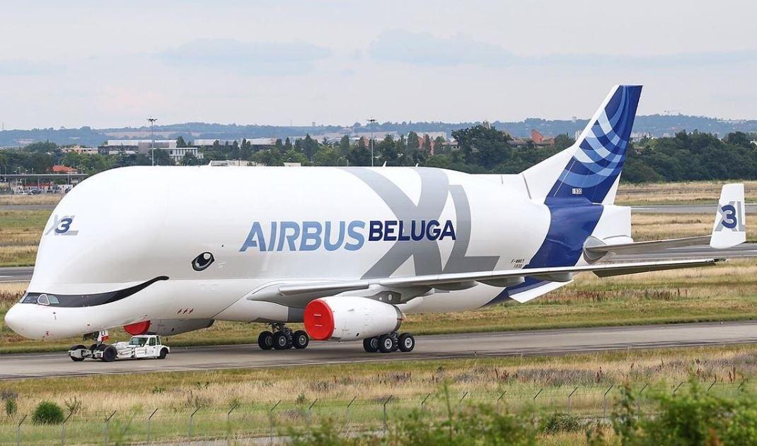 多图:超可爱!空客超级大白鲸3号机喷漆后首亮相