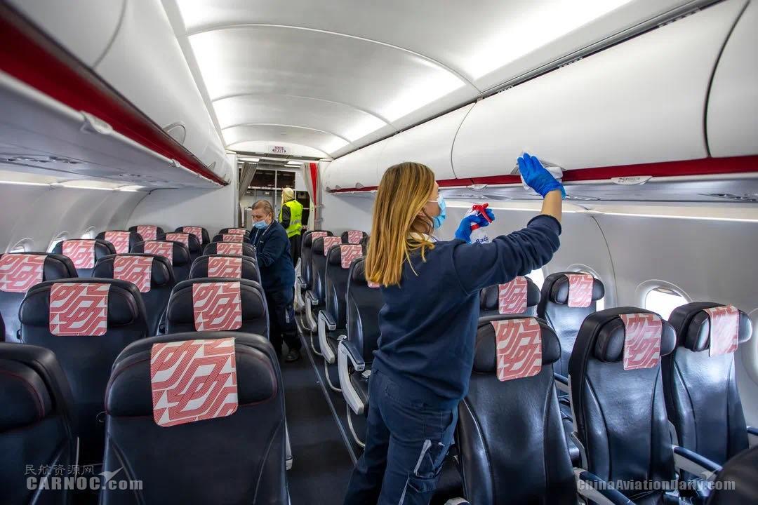 法航机上清洁措施    法航供图