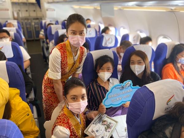 """助力""""安全生产月"""" 西藏航空开展安全知识机上宣讲活动"""