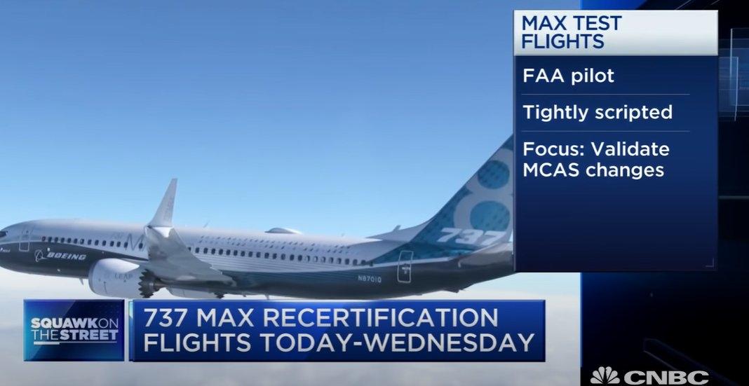 复飞关键一步!737MAX完成首日验证飞行