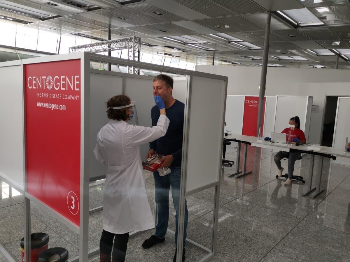 汉莎航空在机场启用新冠检测中心 最快3小时出结果