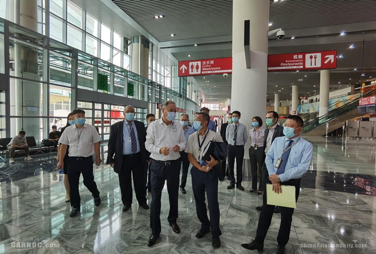 澳门机场专营公司邀请澳门民航局实地调研各方防疫和复苏准备工作
