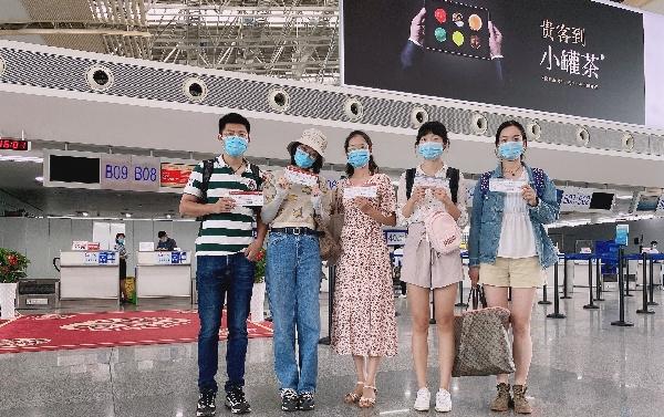 江西恢复跨省团队旅游 东航江西首发团顺利出行