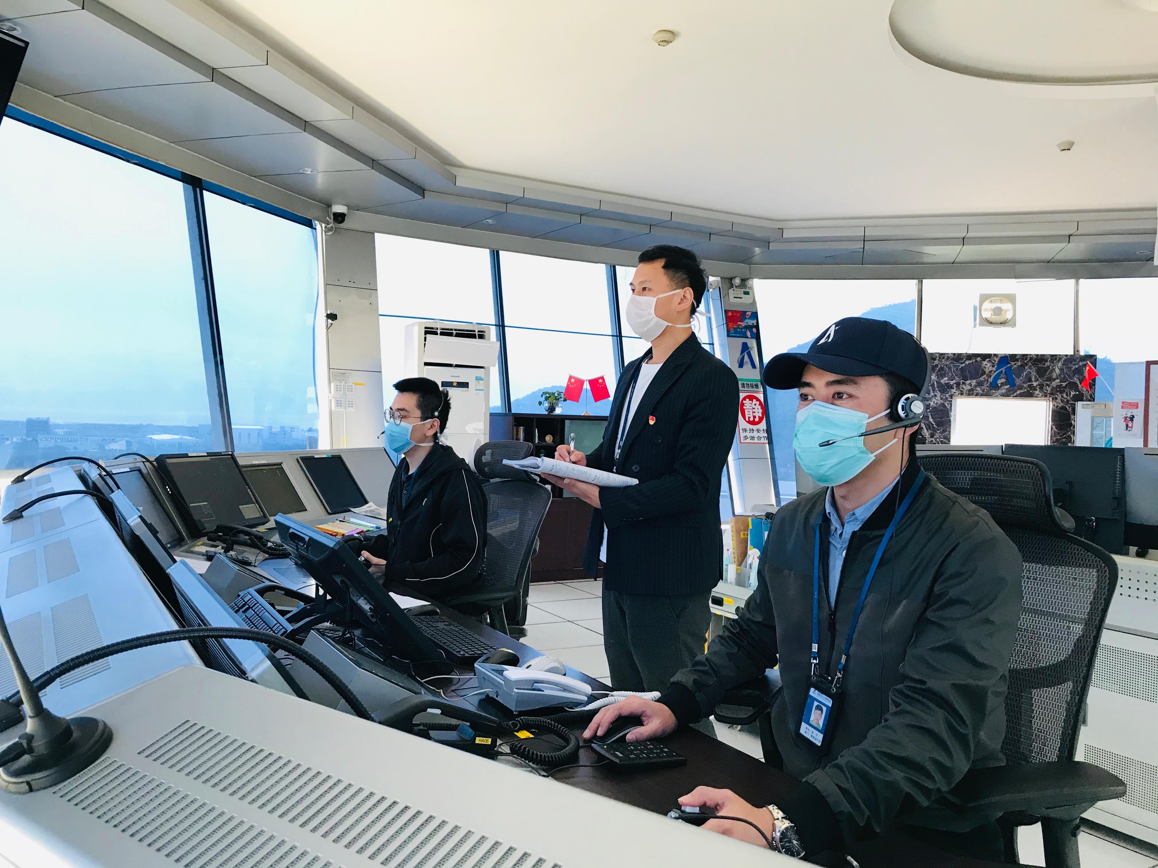 图片 珠海空管站全面启动珠海机