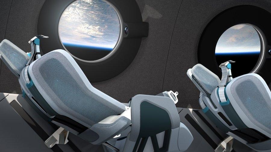 视频:维珍银河SpaceShip Two飞船内部设计曝光 由宇航员体验驱动